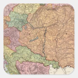 Austria and Hungary 2 Square Sticker