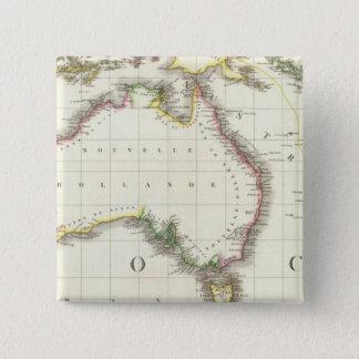 Austria and Indonesia Engraved Map 15 Cm Square Badge