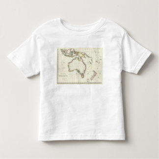 Austria and Indonesia Engraved Map Toddler T-Shirt