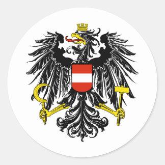 Austria AT Classic Round Sticker