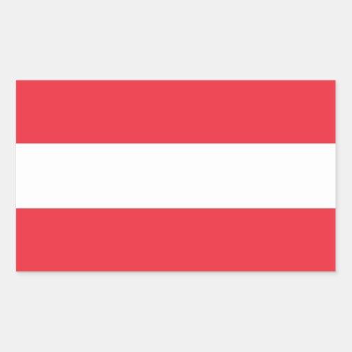 Austria/Austrian (Civil) Flag Rectangle Stickers