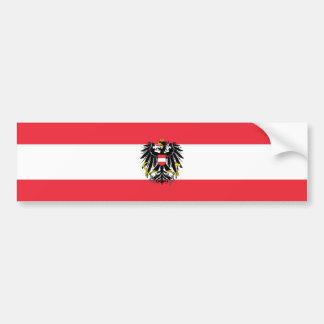 Austria/Austrian Flag Bumper Sticker