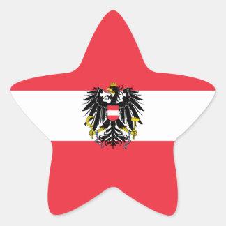 Austria/Austrian Flag Star Sticker