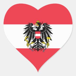 Austria/Austrian Flag Heart Stickers