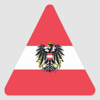 Austria/Austrian Flag Triangle Sticker