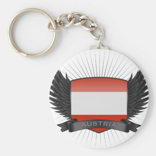 AUSTRIA BASIC ROUND BUTTON KEY RING