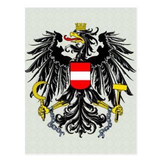 Austria Coat of Arms detail Postcard