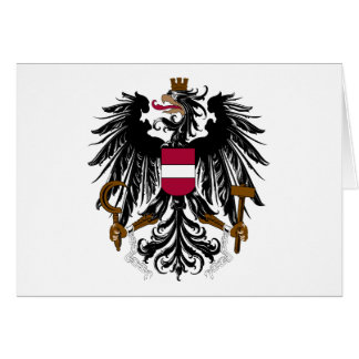 Austria Coat Of Arms Greeting Card
