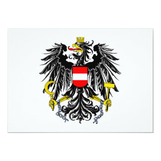 Austria Coat of Arms Personalized Announcements