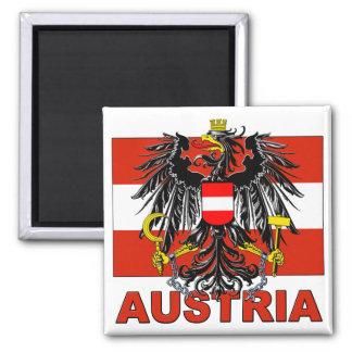 Austria Coat of Arms Square Magnet