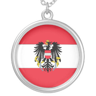 Austria Coat of Arms Silver Plated Necklace