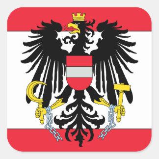 Austria Coat of Arms Square Sticker