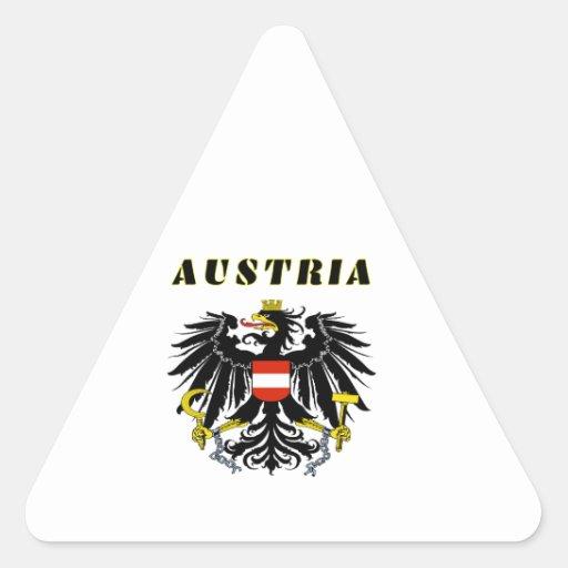 AUSTRIA Coat Of Arms Triangle Sticker