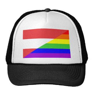 austria country gay proud rainbow flag homosexual cap