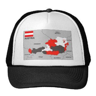 austria country political map flag trucker hat