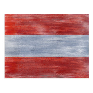 Austria distressed Austrian flag Postcard