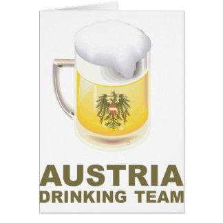 Austria Drinking Team Greeting Card