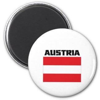 Austria Flag 6 Cm Round Magnet
