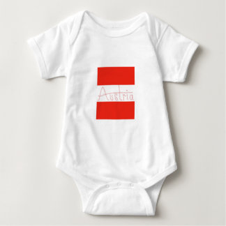 Austria - Flag and Script Baby Bodysuit