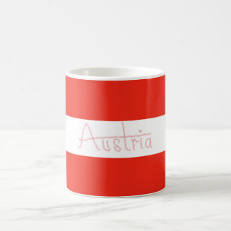 Austria - Flag and Script Coffee Mug