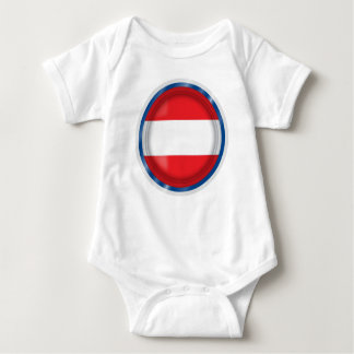 Austria Flag, Austrian Colors, Baby cloth Baby Bodysuit