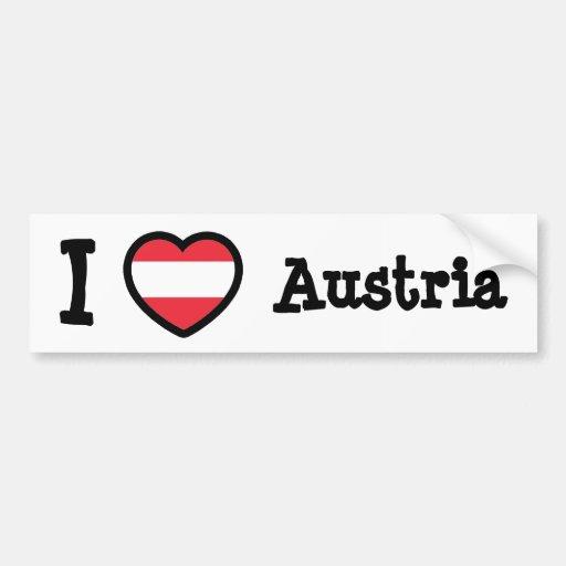 Austria Flag Bumper Sticker