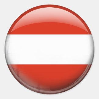 Austria Flag Classic Round Sticker