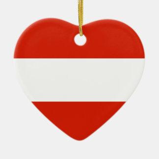 Austria Flag Heart Ornament