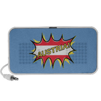 Austria Flag Kapow Comic Style Star Travel Speaker