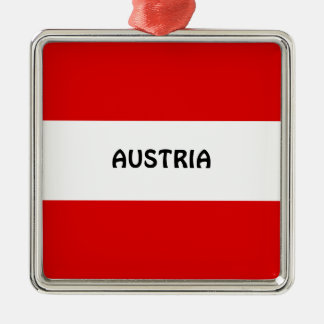 AUSTRIA: Flag of Austria Christmas Ornament