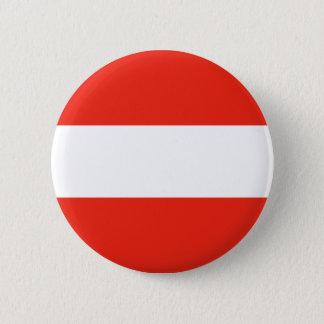 Austria - Flag / Österreich - Flagge 6 Cm Round Badge