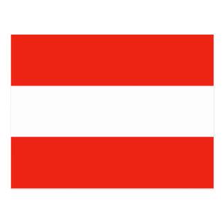 Austria - Flag / Österreich - Flagge Postcard