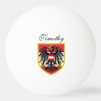 Austria Flag Ping Pong Ball