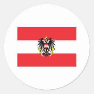 Austria Flag Round Sticker