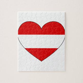 Austria Flag Simple Jigsaw Puzzle