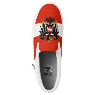 Austria Flag Slip-On Shoes