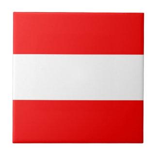 Austria Flag Small Square Tile