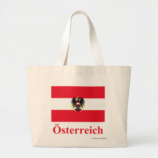 Austria Flag with Name in German Large Tote Bag