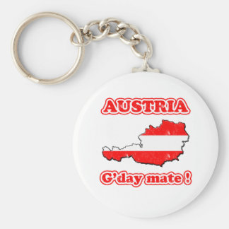 Austria - G'day mate ! Key Ring