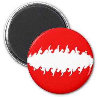 Austria Gnarly Flag 6 Cm Round Magnet