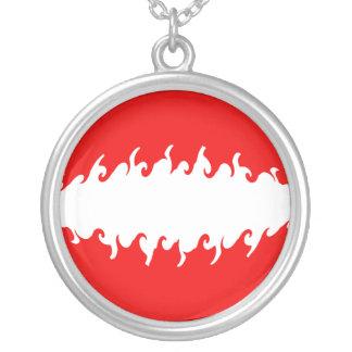 Austria Gnarly Flag Round Pendant Necklace