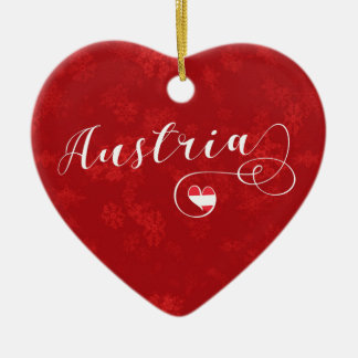 Austria Heart, Christmas Tree Ornament, Austrian Christmas Ornament