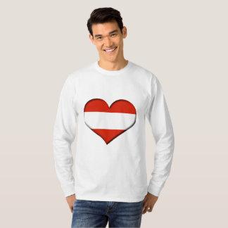 Austria Heart Flag T-Shirt