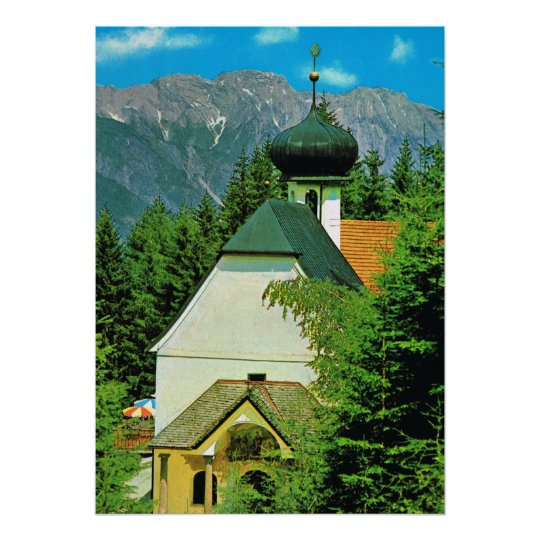 Austria, Heligewasser Church, Grossglockner Poster