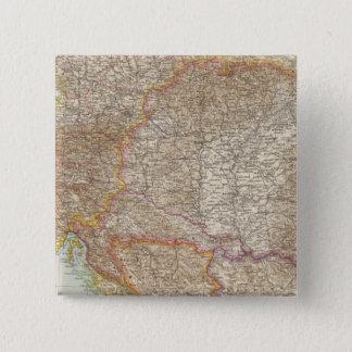 Austria Hungarian Empire Map 15 Cm Square Badge