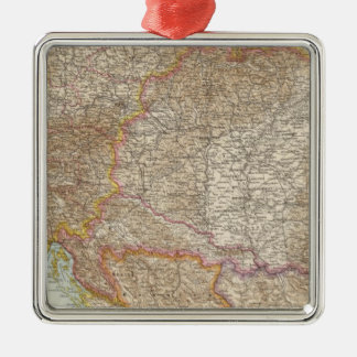 Austria Hungarian Empire Map Christmas Ornament