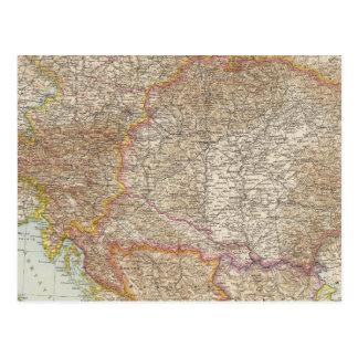 Austria Hungarian Empire Map Postcard