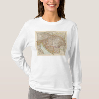 Austria Hungarian Empire Map T-Shirt