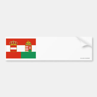 Austria-Hungary Flag (1869-1918) Bumper Sticker