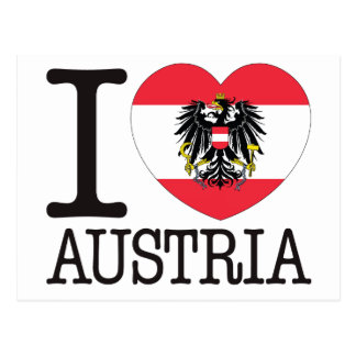 Austria Love v2 Post Card